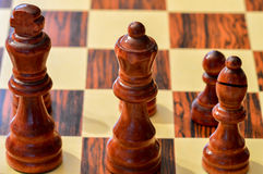 Chessboard pawns Royalty Free Stock Photos