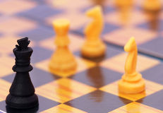 Chessboard. Close up of a playing chessboard Royalty Free Stock Images