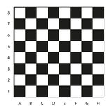Chessboard with coordinates illustration, ready for the game Stock Photos