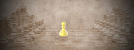 Chessboard - 3D render Stock Photography