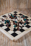 Chessboard and figures Royalty Free Stock Photo