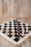 Chessboard and figures Stock Photo