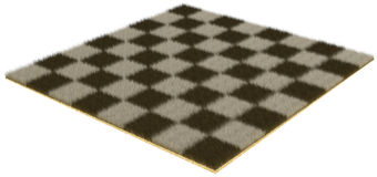 Chessboard from fur Royalty Free Stock Photo