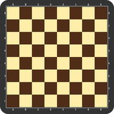 Chessboard with grey frame Stock Photography