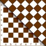 Chessboard half. Royalty Free Stock Photos