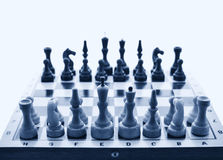 Chessboard on initial position Stock Photography