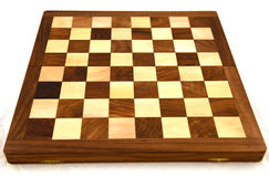 CHESSBOARD. Isolated on white background Royalty Free Stock Photography