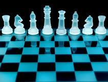 Chessboard kawałki obraz stock