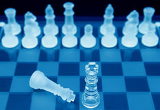 Chessboard kawałki Obrazy Stock