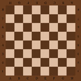 Chessboard with letters a top view. Stock Photo