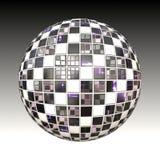 Chessboard metal ball Royalty Free Stock Photo