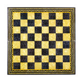 chessboard odizolowywający przedmiota biały drewniany Obraz Stock