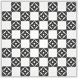 Chessboard ornate background vector Royalty Free Stock Photos