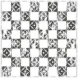 Chessboard ornate background vector Royalty Free Stock Photography