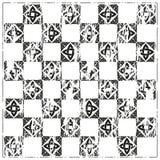 Chessboard ornate background vector. Ornate gray background, сeltic design vector illustration Royalty Free Stock Photography