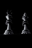 Chessboard with pieces Royalty Free Stock Photos