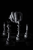 Chessboard with pieces Royalty Free Stock Images