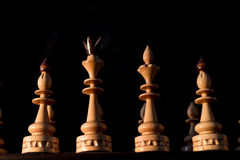 Chessboard with pieces Royalty Free Stock Photo