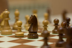 Chessboard with pieces Stock Image