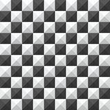 Chessboard pyramid seamless pattern. Black and white Stock Image