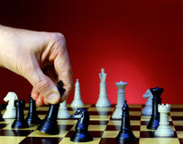 Chessboard (Red B.G.) Stock Images