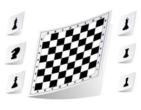 Chessboard stickers set Royalty Free Stock Photo