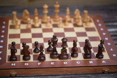 Chessboard, symbolic of strategy Stock Images