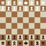 Chessboard Top View Vector Flat Design Chess Board royalty free illustration