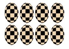 chessboard transformation Royalty Free Stock Photo