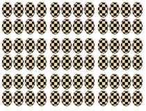 Chessboard transformation on eggs forms Stock Photo