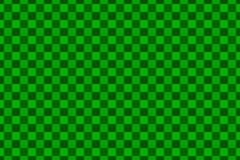 Chessboard vector pattern. Green background Stock Photo