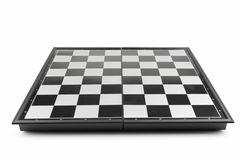 Chessboard view perspective Royalty Free Stock Images