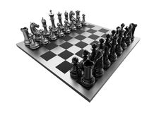 Chessboard on white background Royalty Free Stock Photo