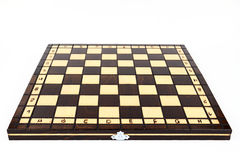 The chessboard. On the white background Royalty Free Stock Photos