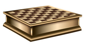 The chessboard wooden chess table vector Royalty Free Stock Images