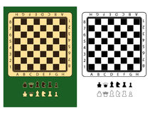 Chessboards and chessmen symbols Royalty Free Stock Image