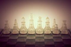 Chessclose en verre vers le haut de fond Images libres de droits