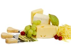 Chesse et fruits Images stock