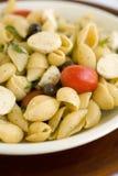 chesse macaroni ντομάτα κοχυλιών στοκ φωτογραφίες