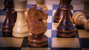 Chesses on the chess board Royalty Free Stock Photos