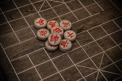 Chesses chinois sur l'échiquier Photo libre de droits