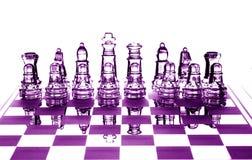 Chessfigures de cristal Fotografia de Stock