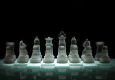 Chessfigures di cristallo Fotografie Stock Libere da Diritti