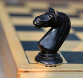 Chessman. Horse. Royalty Free Stock Images