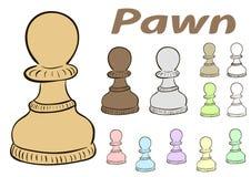 Chessman pawn Royalty Free Stock Photos