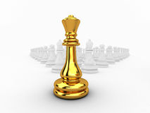 Chessman queen. 3d rendered,chessman queen leader Stock Image