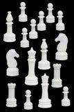 chessmen завершают белизну Стоковые Изображения RF