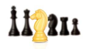 Chessmen изолированные на белизне Стоковое Фото