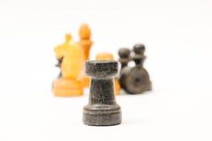 Chessmen изолированные на белизне Стоковое Изображение