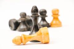 Chessmen изолированные на белизне Стоковые Изображения